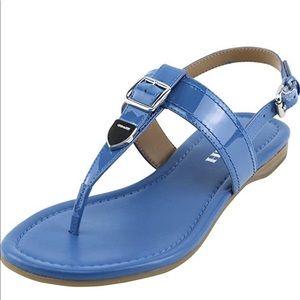 COACH Women's Cassidy Metallic Blue size:10